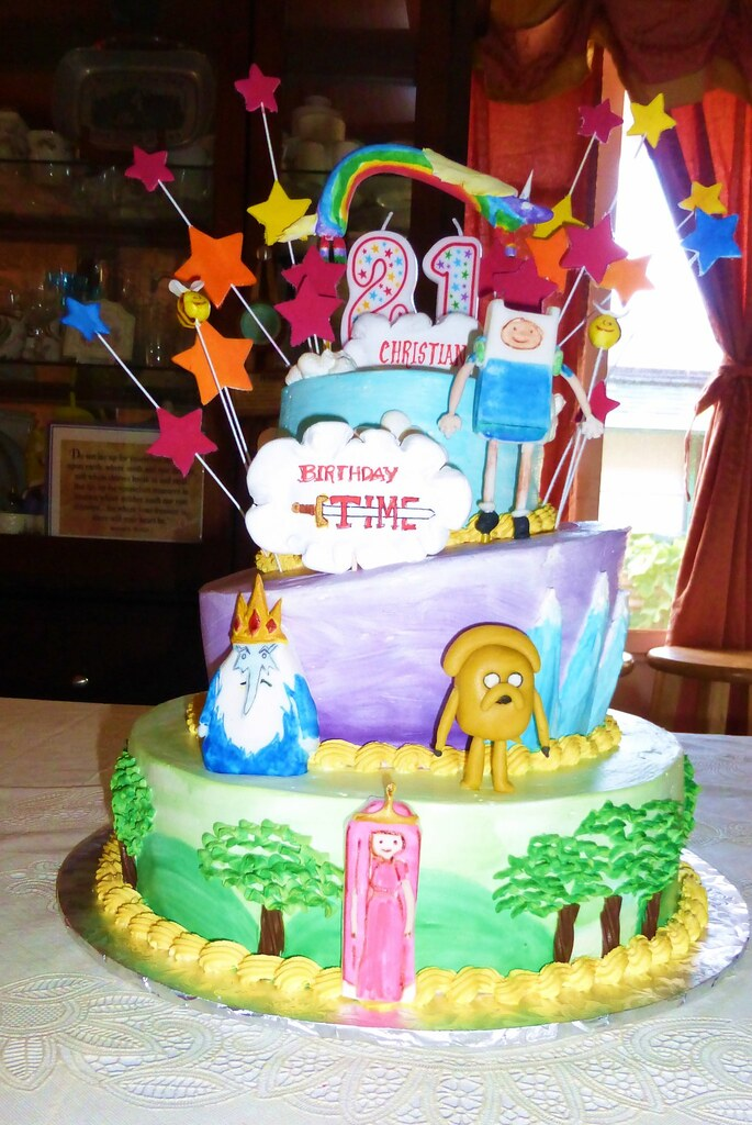 Adventure Time Birthday Cake Loren Bailey Flickr