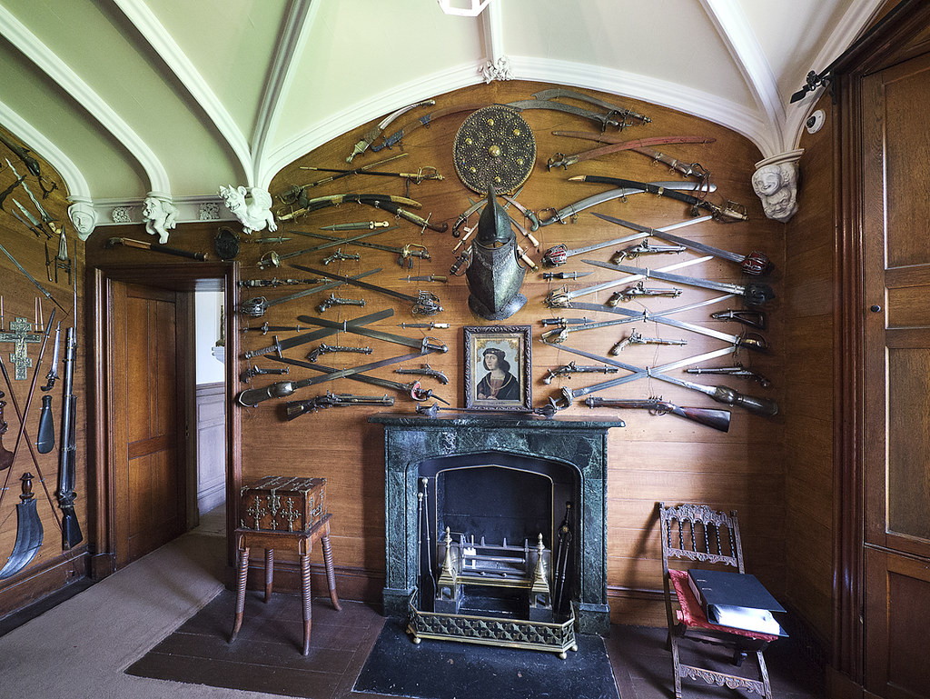 The Armoury In Abbotsford House Located On The Side Of The Flickr