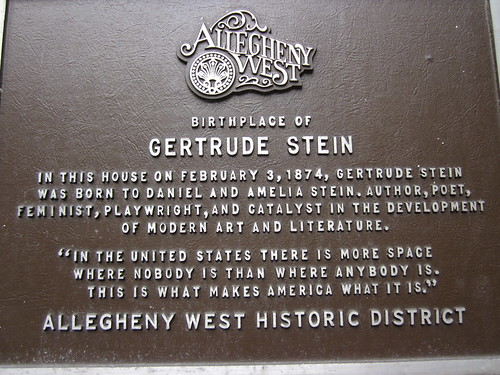 Gertrude Stein Pittsburgh IMG_8545 | by thomas alan