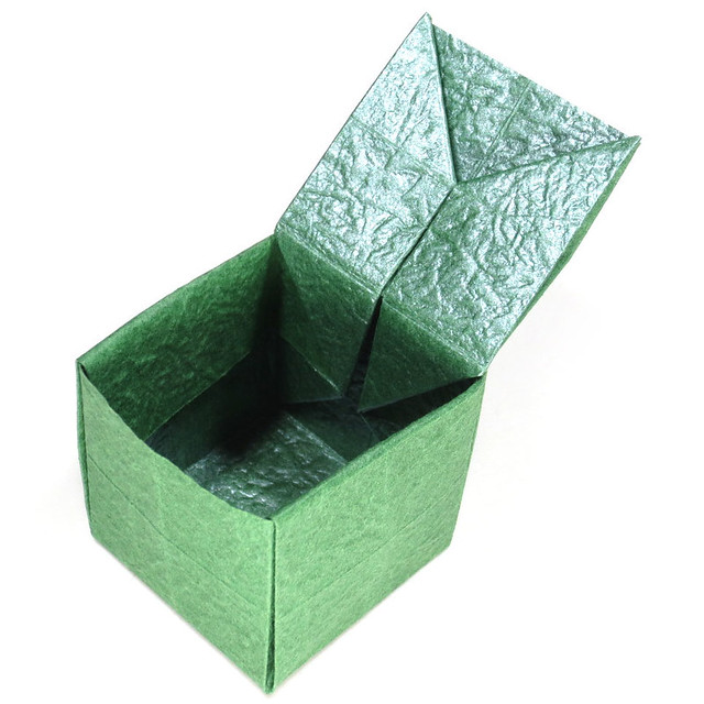 Origami Box With Lid One Sheet
