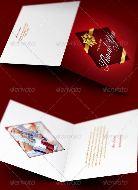 Company Christmas Thank You Card Template This Company Chr Flickr
