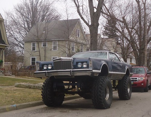 Monster Car Custom Fab 4wd Lifted Lincoln Continental Mk V