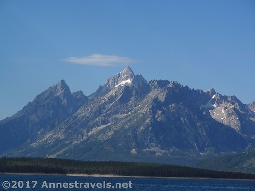 Teewinot Mountain from the Lakeshore Trail, Grand Teton National Park, Wyoming