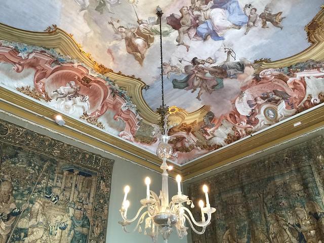 Interior de Ca'Rezzonico en Venecia