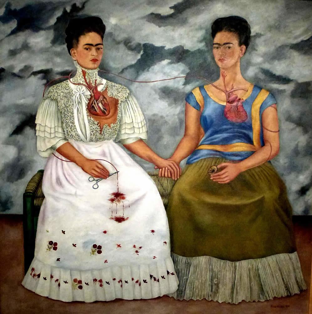 Mexico Museo Frida Kahlo Las dos Fridas