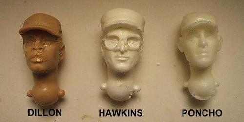 P:ARAH Predator heads: Poncho, Dillon, Hawkins 33067166574_0a5569d13a