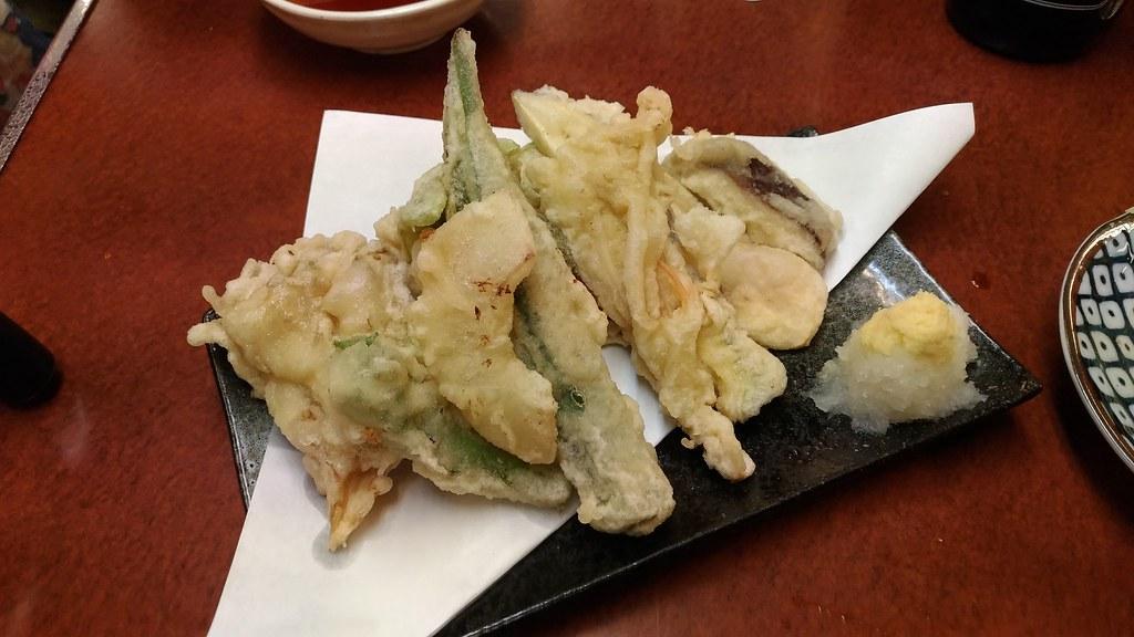 「日の基」の野菜天ぷら