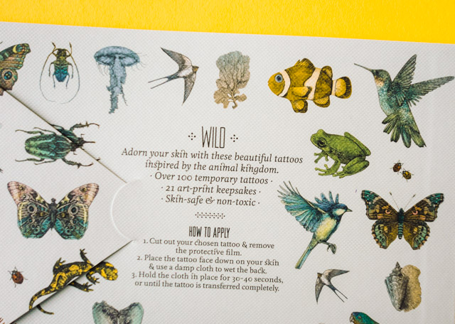 back cover of tattooage: wild