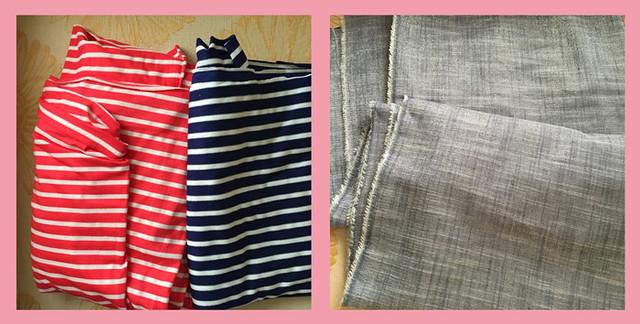 new fabrics stripe and metallic