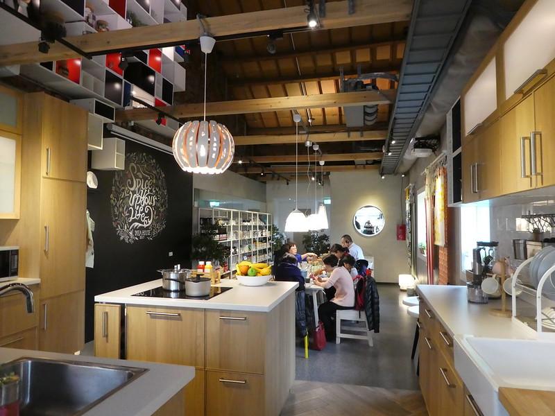 Kitchen area of IKEA House, Taipei