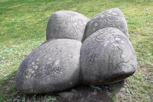 Tätowierter Stein