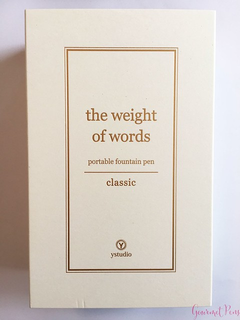 Review YStudio The Weight of Words Portable Fountain Pen - Brassing & Classic @AppelboomLaren 1