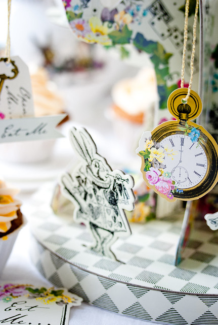 Alice in Wonderland Cupcake Stand