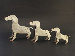 Dogs family designed and folded by me | by Damian Malicki Origami
