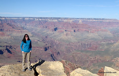 Carrie posing on the edge of the Grand Canyon