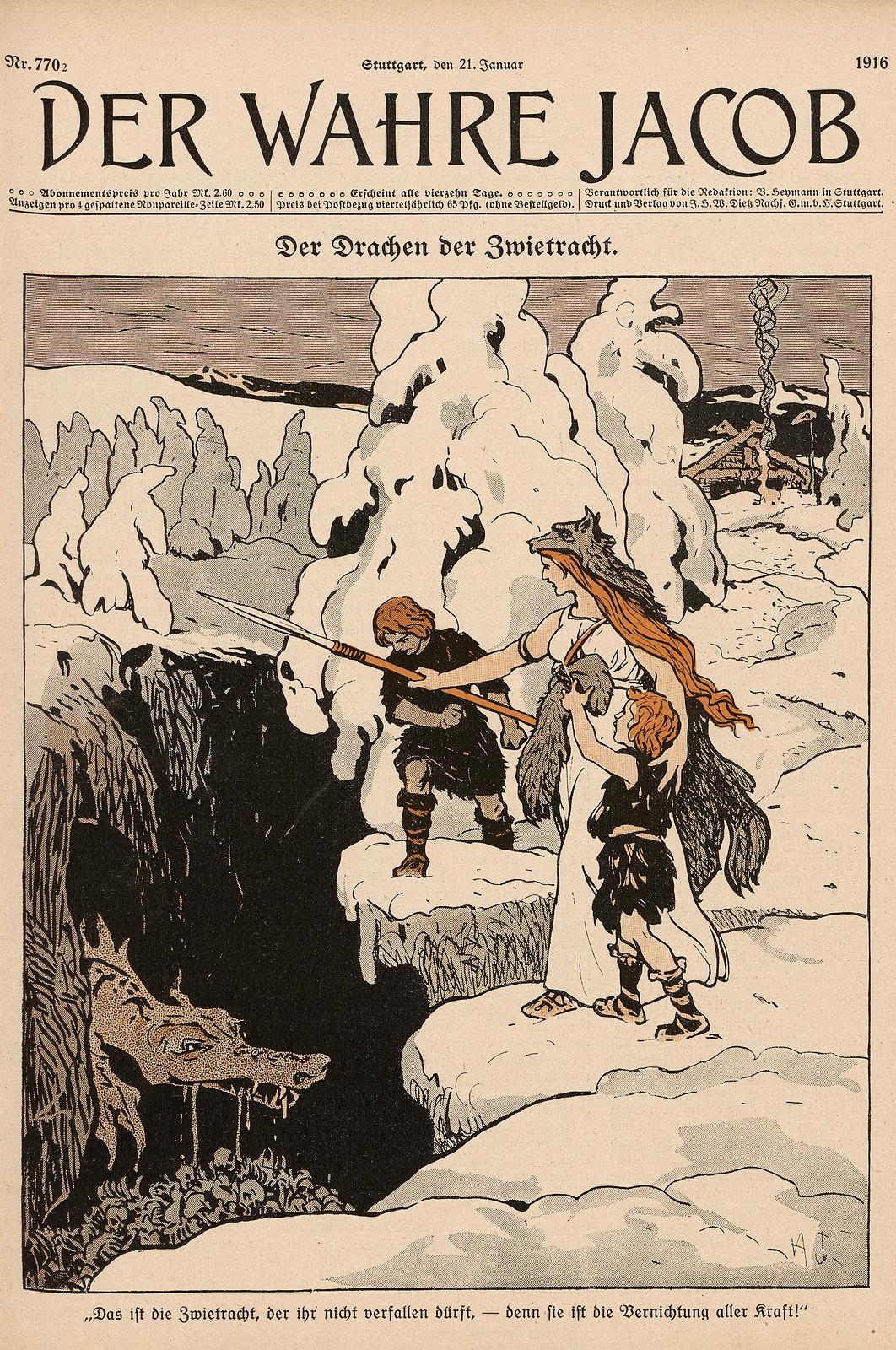 Hans Gabriel Jentzsch - The Dragon Of Discord, 1916