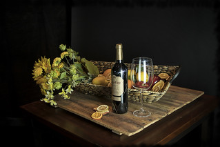 Still Life - wine & flowers 02