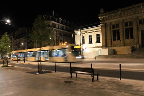 Boulevard de strasbourg de nuit le havre prise le soir for 3d architecture le havre