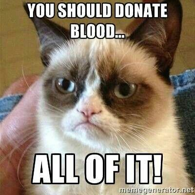 Donate blood Grumpy Cat | by slapcaption