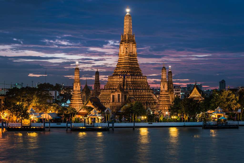 Sunset at Wat Arun  Wat Arun, also called the Temple of ...
