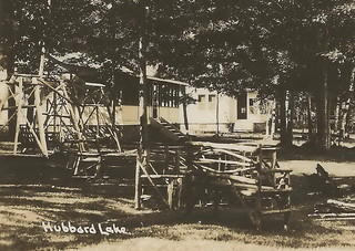 Ne spruce hubbard lake ossineke mi rppc 1930s weiers wawon for Hubbard lake mi fishing