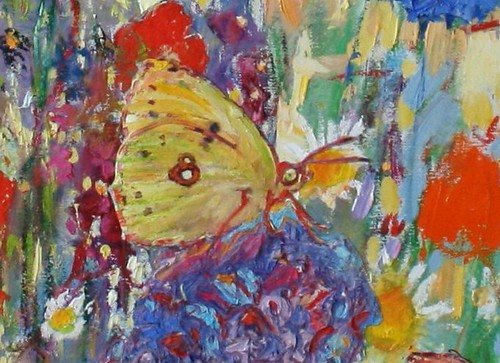 Clouded Yellow (detail) | by Paintings by Paula Nightingale