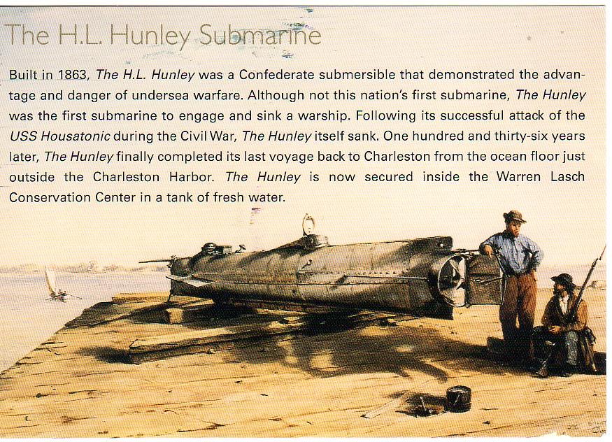 SC H.L. Hunley Confederate Submarine facts | NA RR JAN ...