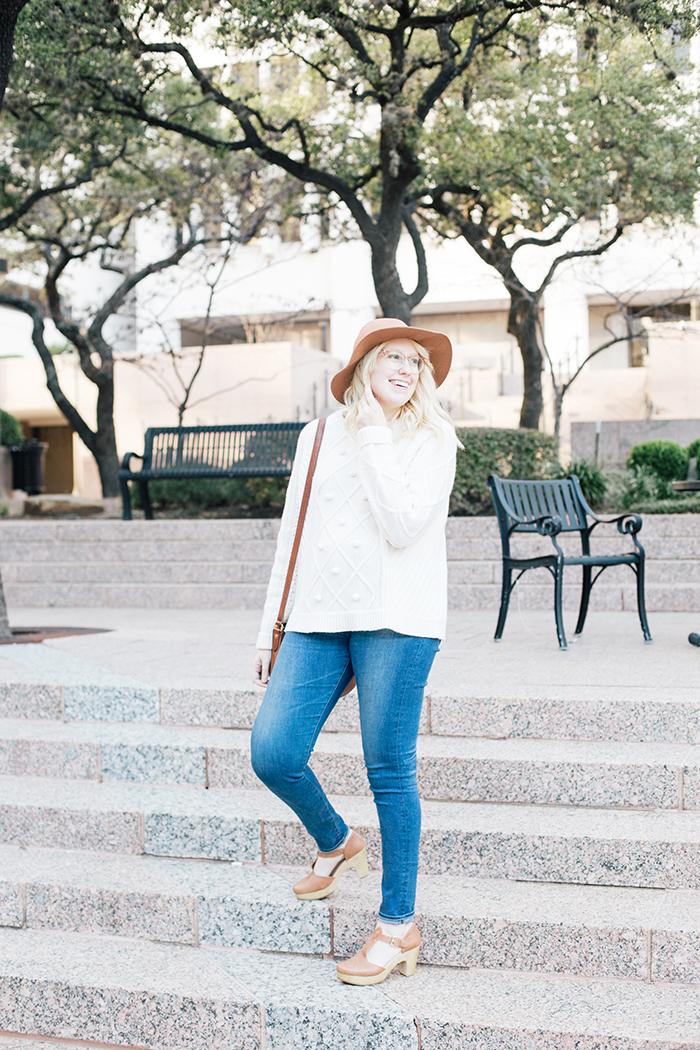 austin style blogger jcrew pom pom sweater clogs8