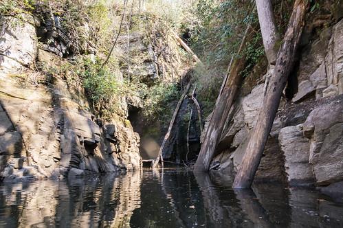 Kayak access to waterfall