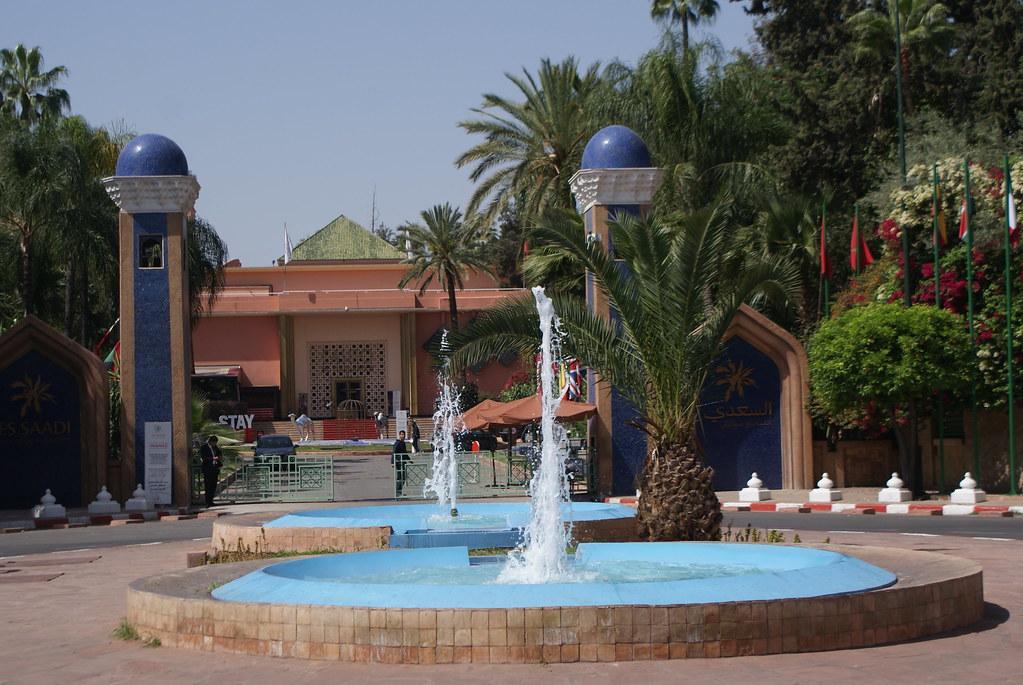 Hôtel de luxe dans l'Hivernage, à l'ouest de la Médina de Marrakech.