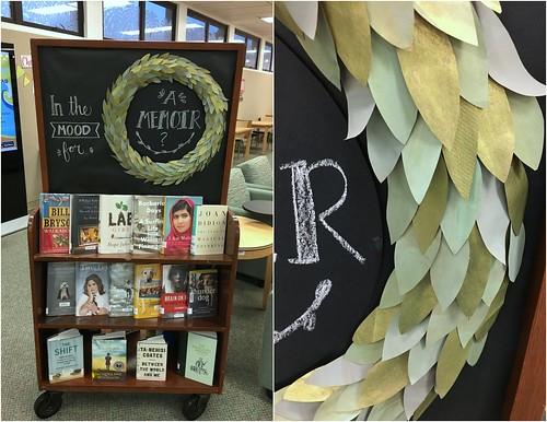 paper leaf wreath memoir display