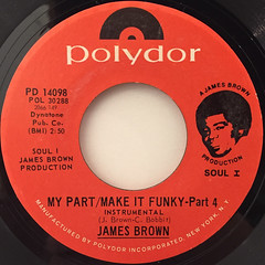 JAMES BROWN:MY PART:MAKE IT FUNKY(LABEL SIDE-B)