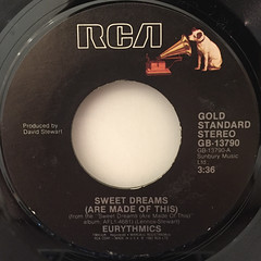 EURYTHMICS:SWEET DREAMS(ARE MADE OF THIS)(LABEL SIDE-A)