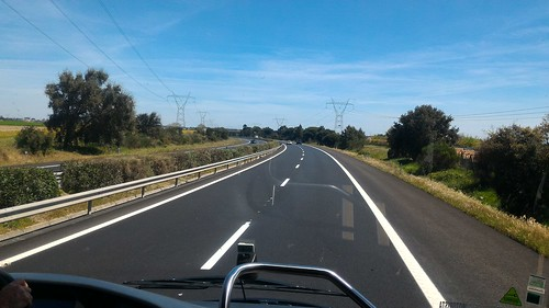 On the road from Lisbon to Evora, Portugal