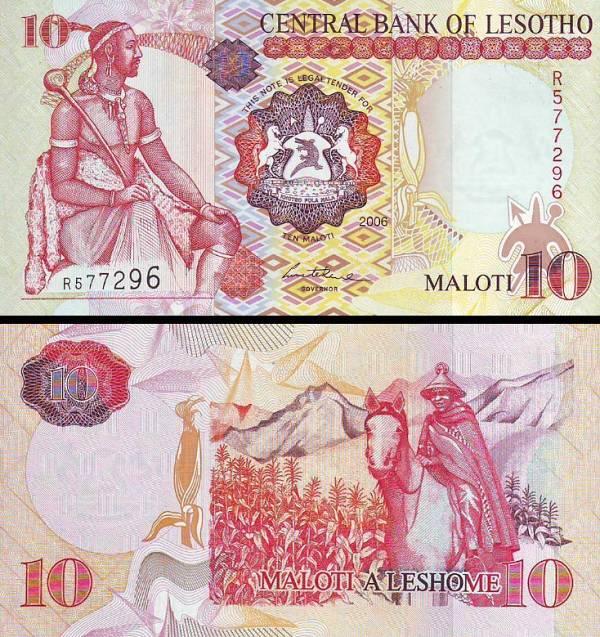 10 Maloti Lesotho 2006, P15d
