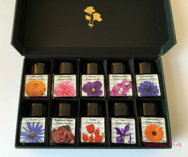 Ink Shot Preview Diamine Flower Set @AppelboomLaren 2