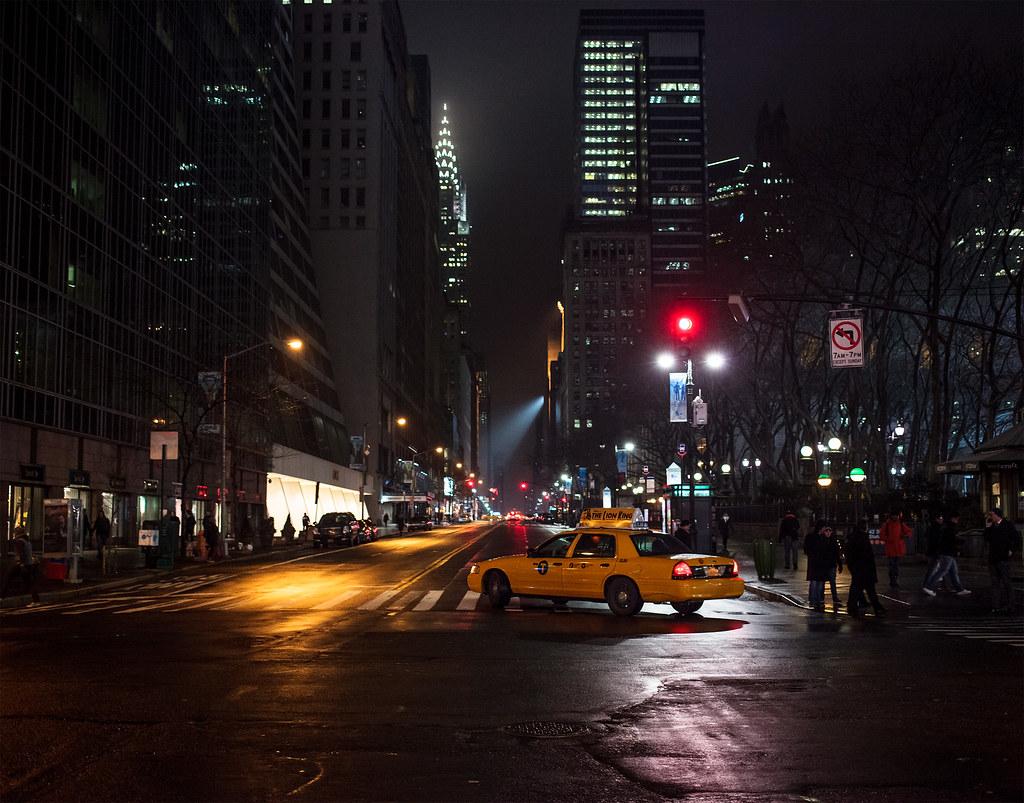 New York Night During A Break In The Rain New York Ny