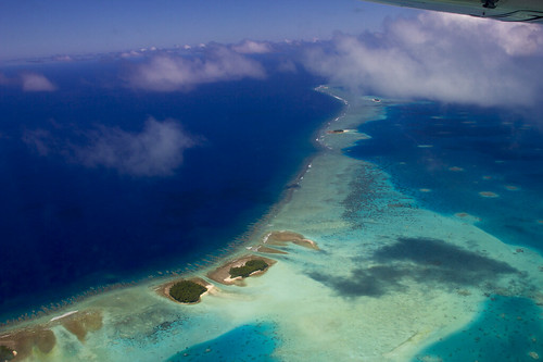 Teafuafou island on the approach into Funfauti atoll, Tuvalu | by Nick Hobgood