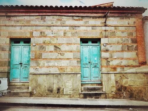 Double doors in Tarija, Bolivia