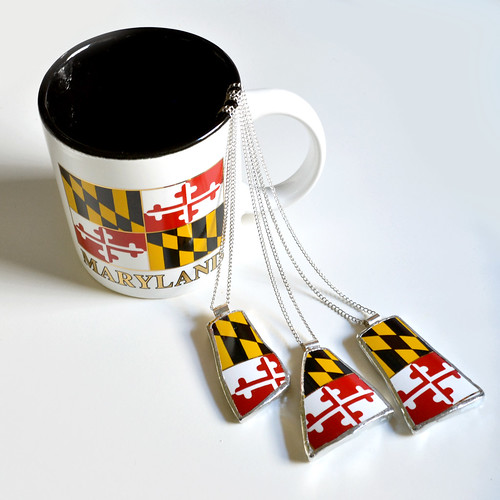 Maryland Mug Necklaces | by The Broken Plate Pendant Co.