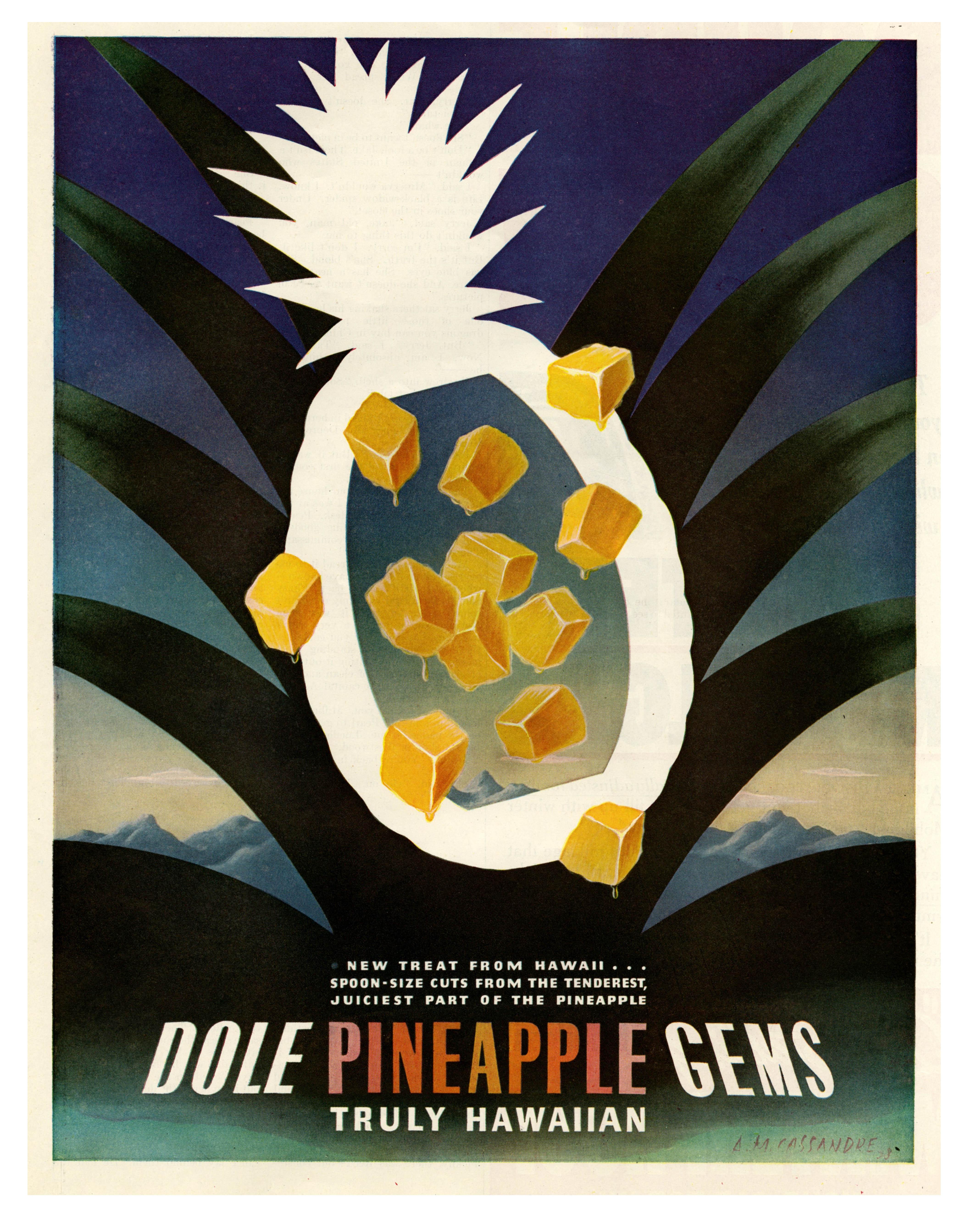 Dole Pineapple Gems - 1938 - Artwork by Cassandre