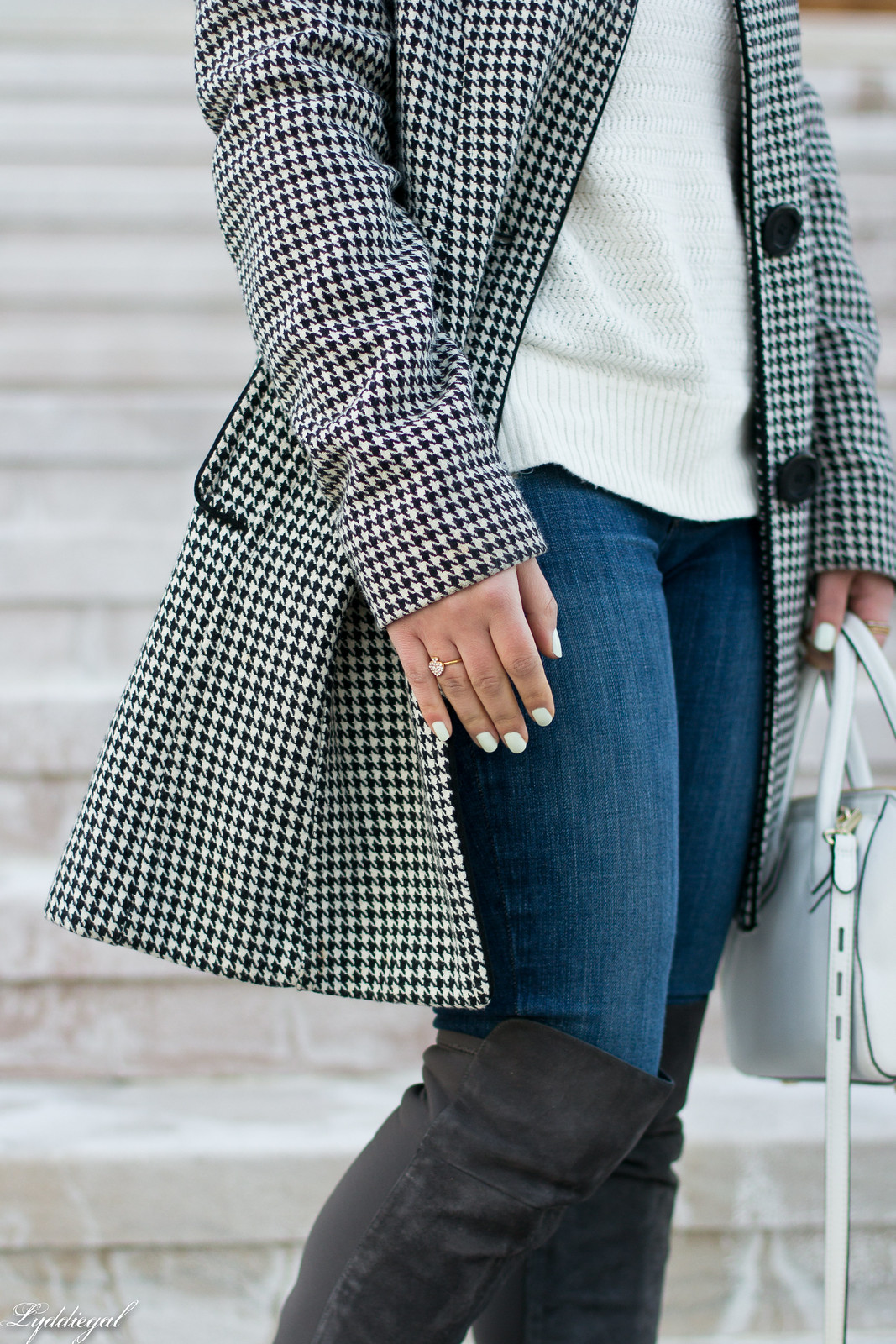 houndstooth coat, white sweater, grey over the knee boots-4.jpg