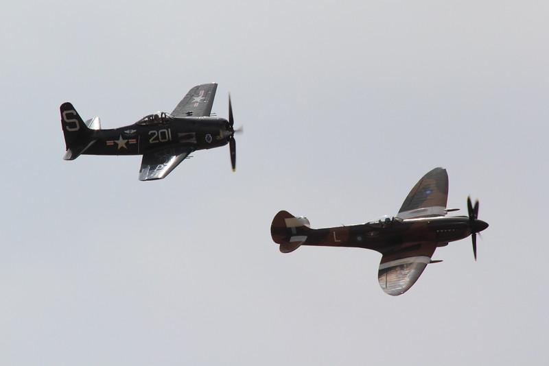 IMG_8806 F8F Bearcat and Spitfire MK XIV