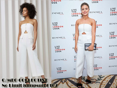 white-C-MEO-COLLECTIVE-No-Limit-bandeau-strapless-jumpsuit-with-fluffy-barely-there-heels
