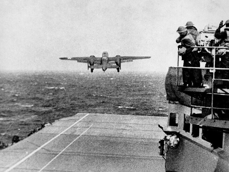 Hornet Deck  Doolittle raid