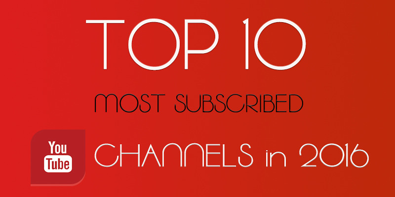 Топ 10 самых популярных YouTube каналов (10 Most subscribed Youtube Channels)