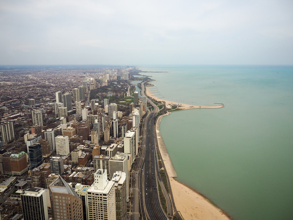 View of Lake Michigan from 360 Chicago