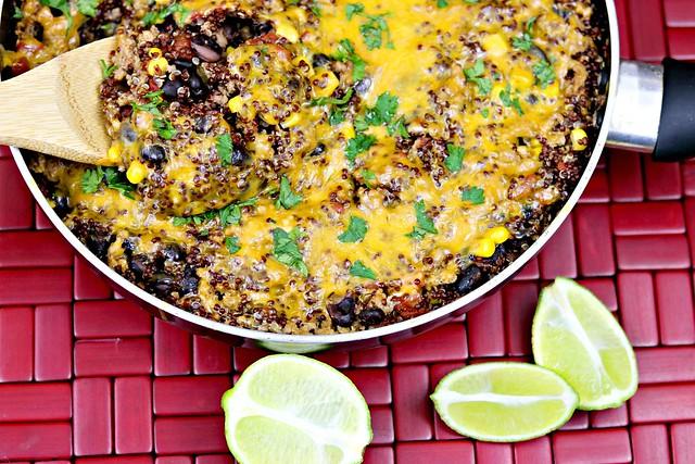Turkey Taco Quinoa Skillet Top