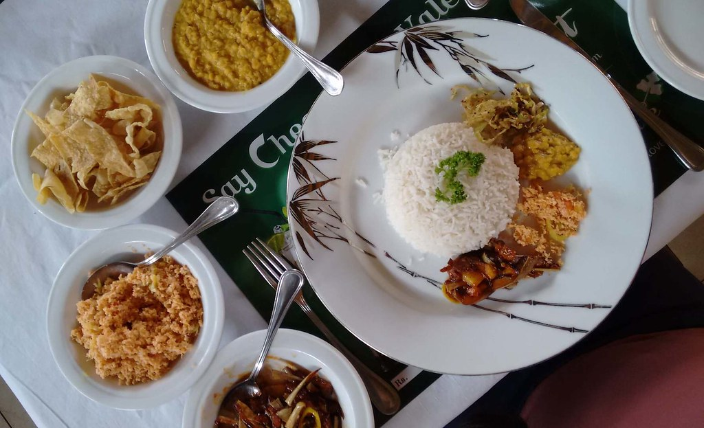 Vegetarian meal in Negombo, Sri Lanka