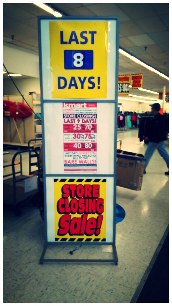Kmart Closing Jamie In Wanderland